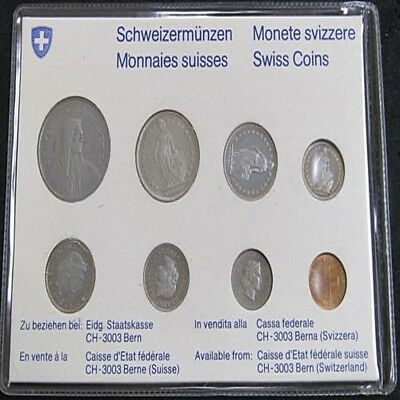 1976 SWITZERLAND SWISS Mint Set 8 Coins.