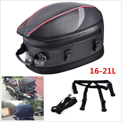 db1ad96d29c0 Motorcycle Back Seat Bag Motorbike Scooter Sport Luggage Tail Bag Helmet Bag  21L