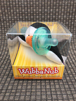 WubbaNub~ Infant Baby Soothie Pacifier- 0-6 mo.  Baby Penguin- Brand New in Box!