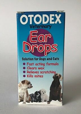 Otodex Veterinary Ear Drops for Dogs & Cats - Relieves Dog Canker - Easy to Use