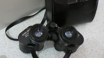 Vintage  SUPER ZENITH BINOCULARS 8x30 TRIPLE TESTED - With Strap & CASED
