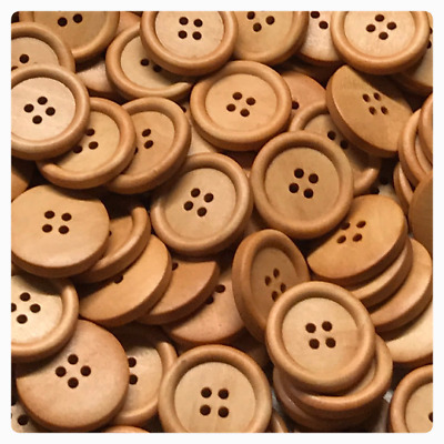 PEPPERLONELY Brand 100PC Natural Color 4 Holes Scrapbooking Sewing Wood Buttons 10mm 3//8 Inch