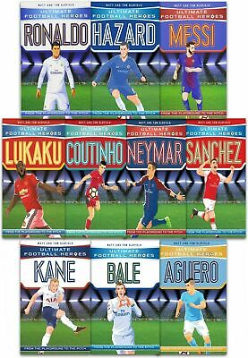 Ultimate Football Heroes Collection 10 Books Set Messi Neymar Ronaldo Kane NEW