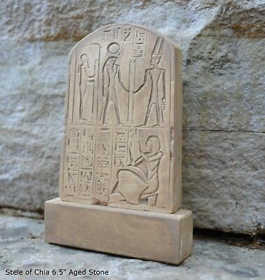 Egyptian votive stele Chia scribe & treasurer of Ramses II Sculpture Statue 6.5""
