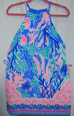 a8e5c89ae066 NEW Lilly Pulitzer Pearl Romper Size 0 Jet Stream Engineered Multi Dress NWT