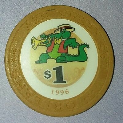 **VINTAGE** $1 Casino Chip from ORLEANS Casino in Las Vegas dated 1996