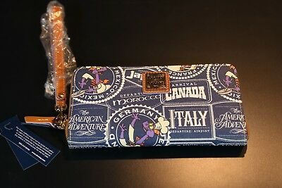 Disney Dooney and Bourke 2017 Epcot Food and Wine Festival Clutch Wallet  NWT