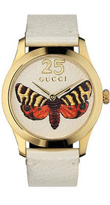 4397e4f55f6 Gucci G-Timeless Yellow Gold PVD Mixed Dial 38MM Leather Women s Watch  YA1264062
