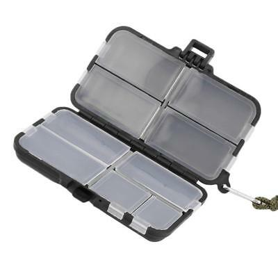 Double Sided Fishing Lures Hooks Bait Tackle Storage Box Case 9 Compartment BE