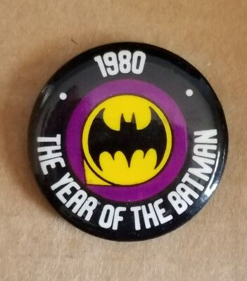 New Old Stock 1980 The Year Of The Batman Pinback Button