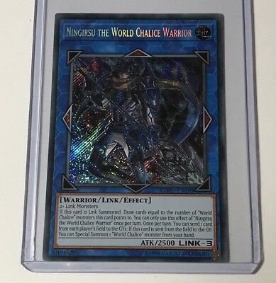 Yu-Gi-Oh! Ningirsu the World Chalice Warrior COTD-EN050 Secret Rare Mint