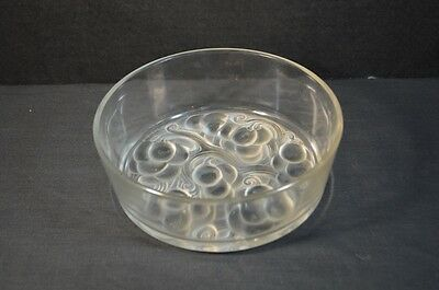 Vintage Rene Lalique French Crystal Bowl with Grapes