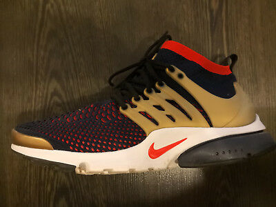 sports shoes d63c7 7a156 ... clearance nike air presto flyknit ultra olympia pack usa größe 47 blau  rot gold d7602 81f85