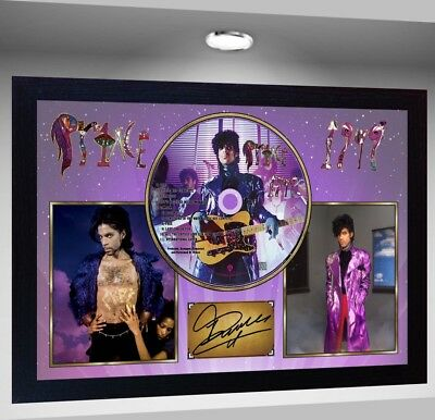 1999 PRINCE SIGNED FRAMED PHOTO CD Disc Perfect gift