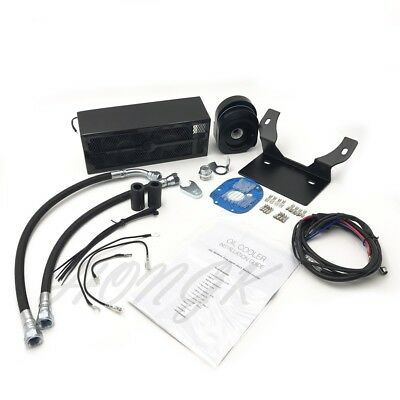 Motorcycle 2.0 Reefer Oil Cooler Fan Cooling System For Harley Touring 1999-2008