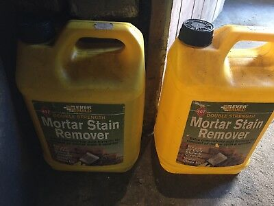 Everbuild 407 Mortar Stain Remover Cleaner 5 L Ltr Fast Acting X 2