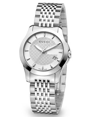 070f11f183d Gucci G-Timeless 27MM Silver Dial Quartz Stainless Steel Women s Watch  YA126501
