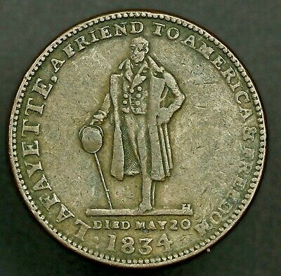 1834 Hard Times Token, H.M. & E.I. Richards,MA  HT-150