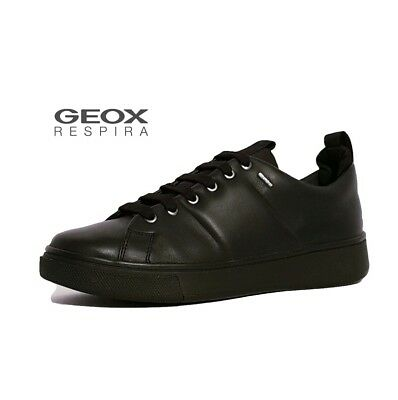GEOX AMPHIBIOX MAYRAH Abx Black Leather Waterproof Trainers