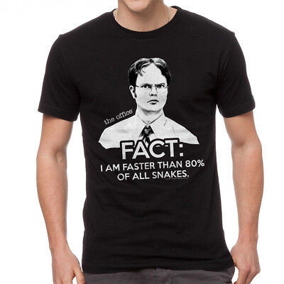 The Office Dwight Schrute I Am Faster Than 80% Snakes Quote Men's Black T-shirt