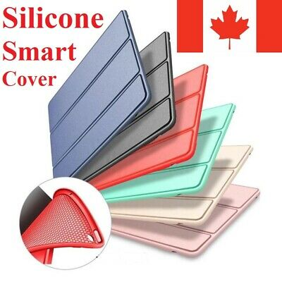For iPad Stand Case Smart Silicone Slim Soft TPU Cover Mini Air Pro All Models