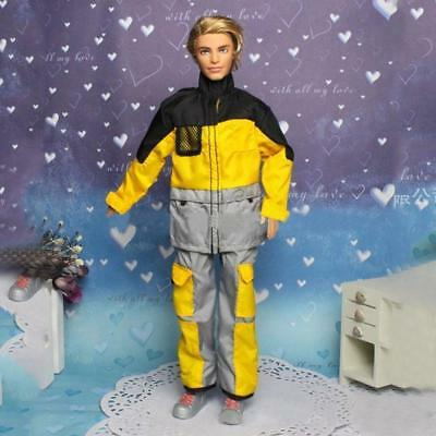 Fashion Party Daily Wear Dress Outfits Clothes Shoes For for 1/6 male doll.TOP