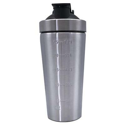 Protein Supplement Drink Blender Shaker Shake Mixer Cup Stainless Steel Top