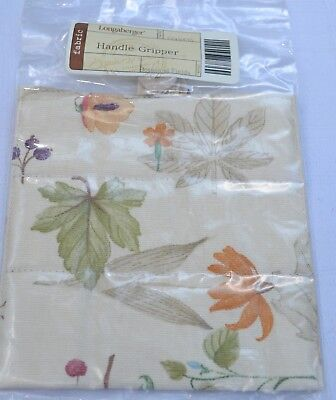 Longaberger Fabric Padded & Buttoned HANDLE GRIPPER - BOTANICAL FIELDS BF