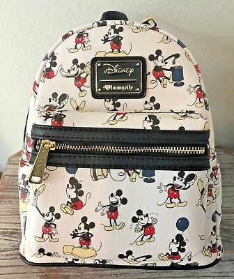 Loungefly - Disney MICKEY MOUSE Pose ~ All Over Print Mini BackPack NEW Bag 3e223b148c3be