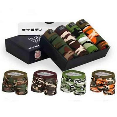 4 Pack Mens  Camo Boxer Briefs Trunks rmy Camouflage Shorts Pouch Underwear.TOP