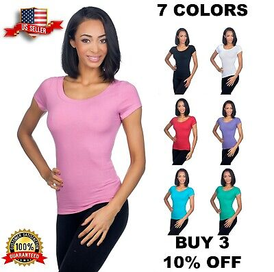 a518220fddf351 Hering Junior Womens Fitted Basic Jersey Stretch Scoopneck Capsleeve Tshirt  02TT