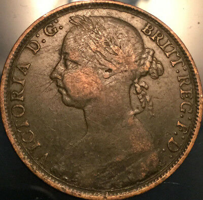 1890 UK GB GREAT BRITAIN VICTORIA PENNY - Good example!