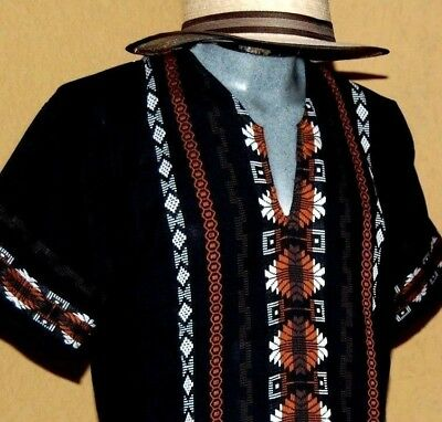 Mexican Mens Guayabera Casual Shirt Summer Sport Cotton Embroidered all szs NWT