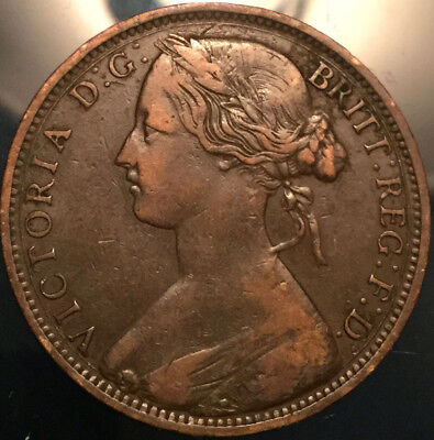 1863 UK GB GREAT BRITAIN VICTORIA PENNY - Nicer example!