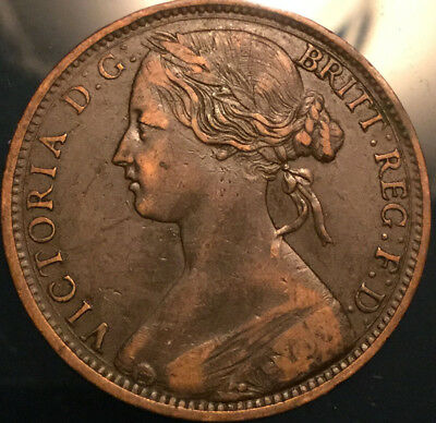 1863 UK GB GREAT BRITAIN VICTORIA PENNY - Great example!