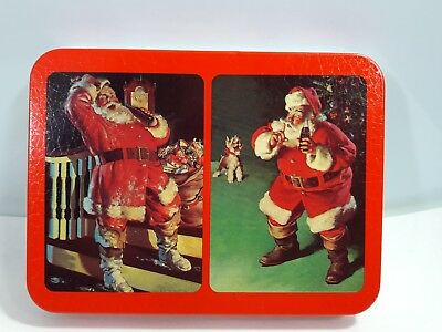 Nostalgia Playing Coca Cola Cards in Tin Christmas 1993 2 set of card