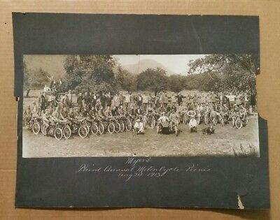 Myers 3rd.Annual Motorcycle Picnic,VINTAGE Group Photo,Aug.24,1913