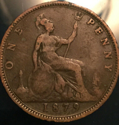 1879 UK GB GREAT BRITAIN VICTORIA PENNY - Good example!