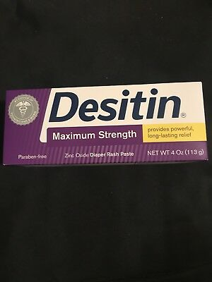 Desitin MAXIMUM STRENGTH Baby Diaper Rash Cream 4oz(EXP 05/20)