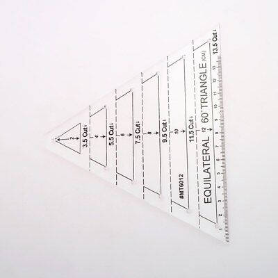 Patchwork Ruler Equilateral Triangle 60 Degree Quilting Ruler for Clothes Making