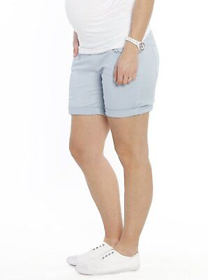 Maternity Shorts | Angel Maternity Clothes Blue Cotton Shorts M 12 L 14 Pants