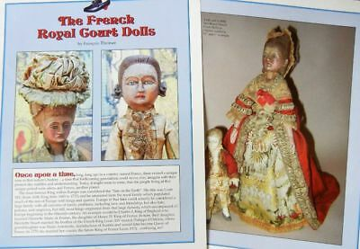 22p History Article & Pics -  Early Antique Dolls of the French Royal Court