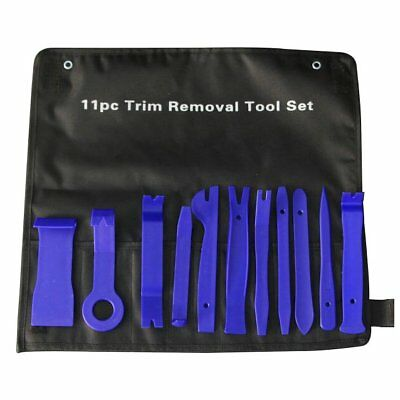 11pc Trim Removal Tool Kit Upholstery Trim Molding Pry Clip Dash Door Panel Blue