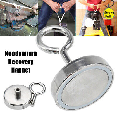 5-68KG Neodymium Recovery Magnet Metal Detector Claw Hook Strong Magnetic