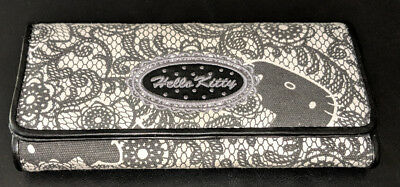 Hello Kitty Sanrio Black and White Paisley Wallet Great Condition