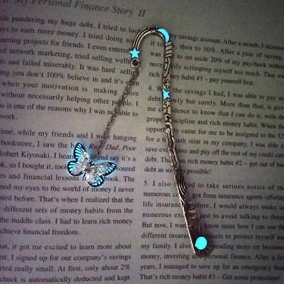 Luminous Bookmarks Glow In The Dark Butterfly Bookmark Book Marker Stationary