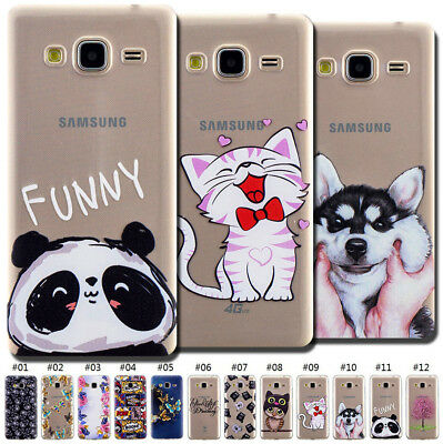 Cute TPU Silicone Protective Soft Shockproof Case Cover Rubber Skin For Samsung