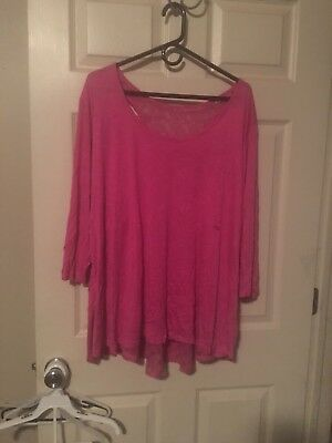 Lane Bryant Womens Pink Tunic That Looks Like You Have 2 Shirts On Size 26/28