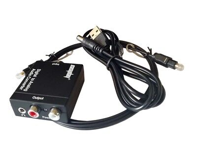 3.5mm Digital Optical Coaxial Toslink to Analog Audio Converter Adapter RCA DAC