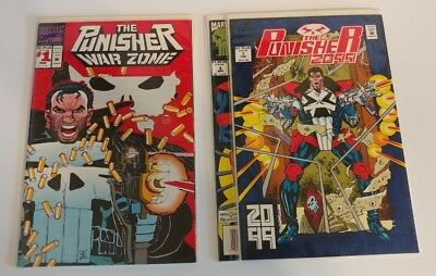The Punisher: War Zone #1 (1992) AND 2099 1, 3 Comics VF/NM Bagged and Boarded!!